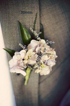 Hydrangea Boutonniere by Weddings by Jennifer, via Flickr