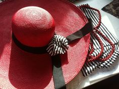 Coco Steele Collection #design #red #couture #hats #art