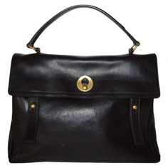 Muse two bag YVES SAINT LAURENT Black in Leather     http://uk.vestiairecollective.com/sac-muse-two-yves-saint-laurent,28.shtml    Vestiaire Collective