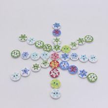 15mm Botões de Costura Botões De Madeira Artesanato de Natal Scrapbooking Botões…