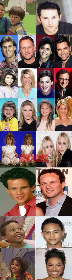 Full house cast then and now :O