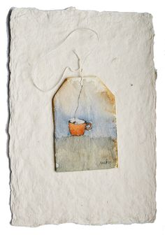 Ruby Silvious: born in Tacloban City, Philippines; currently lives in the Hudson Valley, NY) Tea Bag Art, Tea Art, Art Bag, Watercolor Cards, Watercolor Paintings, Watercolour, Tee Kunst, Art Aquarelle, Creation Art