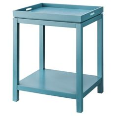 Love this blue tray table from Target (of course!)  - use as a table or as a serving tray.  genius.
