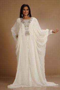 White Wedding Abaya Kaftan  Muslim  Hijab  Islam Kaftan Abaya 1edbcb328b887