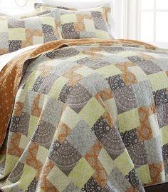 3-Piece Reversible Quilt Set 100% Cotton Adara