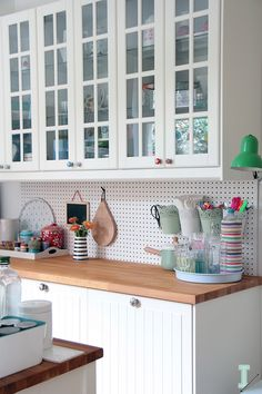 Kitchen update: pegboard wall organizer