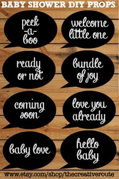 Baby Shower Photobooth props chalkboard – Printable 8 page PDF with photo booth props chalk board - Everythink for Babyshower Baby Shower Photo Props, Baby Shower Photos, Boy Baby Shower Themes, Baby Shower Printables, Baby Shower Games, Baby Shower Invitations, Baby Shower Photobooth Props, Free Printables, Shower Bebe