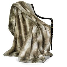 Faux Fur Wolf and Cashmere Throw ($1,050) ❤ liked on Polyvore featuring home, bed & bath, bedding, blankets, grey faux fur throw, faux fur blanket throw, grey faux fur throw blanket, faux fur blankets and faux-fur throw