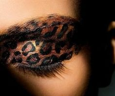 leopard eyes - you can do fun stuff with airbrush makeup