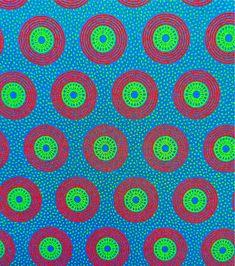 Tissu turquoise - motif circulaire rouge - 100% Coton - 50 cms - Véritable shweshwe Da Gama - Afrique du Sud by MathildeAndCo on Etsy