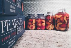 My way to commemorate the end of peach season: with bourbon and autumn spices.