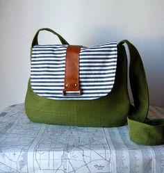 Fremont crossbody messenger bag by atlaspast on Etsy, $48.00