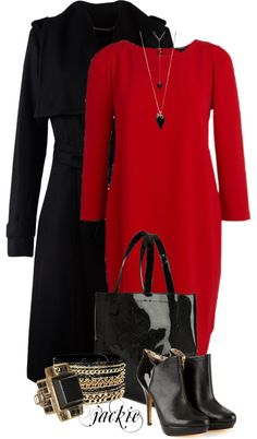 """""""Red Dress"""" by jackie22 ❤ liked on Polyvore"""