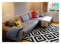 We think the Vittorio sofa in pearl grey makes a fabulous addition to Thea's new London home.