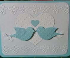 Homemade Anniversary Card in Pink OR Blue by 2CardLadies on Etsy, $2.25