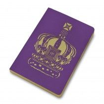 Crown of India purple and silver A5 notebook