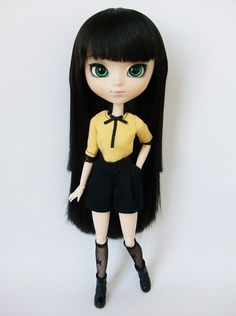 Black and Yellow set for Pullip / Momoko by SquishTish on Etsy, $23.00