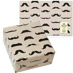 Mustache wrapping paper.