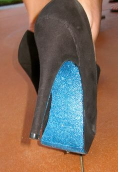 What a cute DIY project!  These are perfect for a basic pair of shoes to give them pizzazz, to dress up an outfit, or that something blue for your wedding day :)   The possibilities are endless