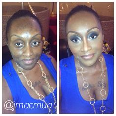 Wedding Day Makeup Before And After : Before/After on Pinterest African American Makeup ...