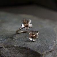 Cherry Blossom Adjustable Branch Ring Sakura Twig and by HapaGirls