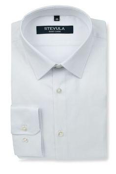9e9f44cdeef2 Biela štruktúrovaná pánska košeľa