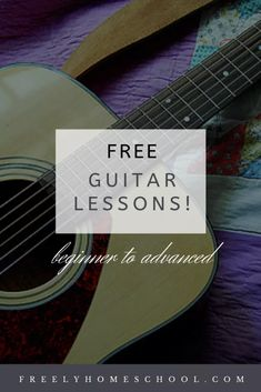 Free Guitar lessons from beginner to advanced. Perfect for homeschoolers! (free ukelele lessons, too)