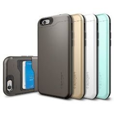 iPhone 6 Case.  The Spigen Slim Armor, holds 2 cards.