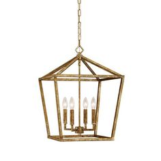 Vintage Gold 16 Inch Four Light Pendant Millennium Lighting Lantern Pendant Lighting Ceili