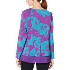 Fashionable Plus Size Clothing, Trendy Clothes For Women, Trendy Tops, Purple Teal, Plus Size Outfits, Black Tops, Trendy Fashion, Tunic Tops, Chic