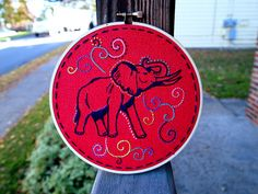 Elephant Embroider #elephant #embroidery