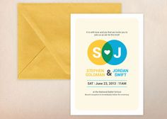 Bright and Bold Wedding Invitation