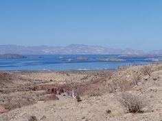 View of Bahia de Los Angeles, Baja California, Mexico