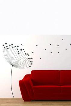 dandelion wall stickers