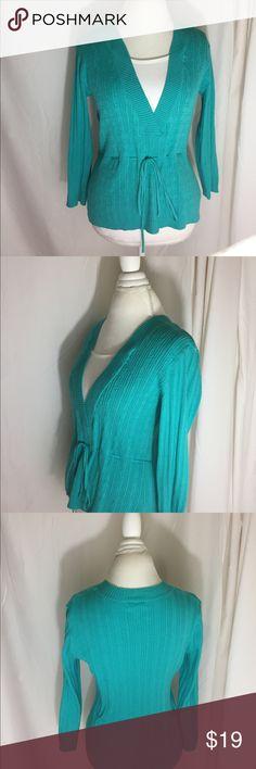 DressBarn Shirt DressBarn Shirt: Green, 100% Cotton made in China Dress Barn Tops