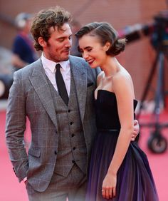 Sam Claflin and Lily Collins - 'Love, Rosie' Rome Film Festival Premiere