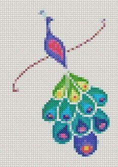 Kawaii Cross Stitch, Cross Stitch Bird, Cross Stitch Animals, Cross Stitch Charts, Cross Stitch Designs, Cross Stitching, Cross Stitch Patterns, Embroidery Applique, Cross Stitch Embroidery
