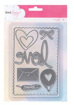 Amazon.com: American Crafts 8-Piece Dear Lizzy Daydreamer Nesting Die Set: Arts, Crafts & Sewing