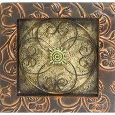 square wall plaque (powder room?)
