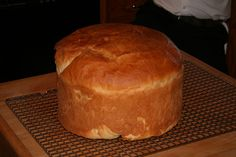 3 c. very hot water c. butter c. sugar 2 t. salt 2 T. yeast 9 - 9 c. unsifted flour In a heavy-duty mixer, combine the fir. Basque Bread Recipe, Savoury Baking, Bread Baking, Sheepherders Bread Recipe, Basque Food, Popover Recipe, Bread Maker Recipes, Dutch Oven Recipes, Pancakes And Waffles