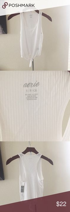 Aerie Ribbed Crop Tank With Front Knot Detail. Brand new with tag. In excellent condition. Only selling to make room in my closet. No trades. No paypal. aerie Tops