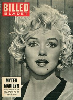 "Billed Bladet - August 10th 1962, magazine from Denmark. Front cover photo of Marilyn Monroe in publicity for ""Some Like It Hot"", 1958."