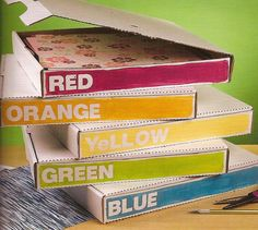 Papercrafting Organization: Paper Storage – Pizza Boxes