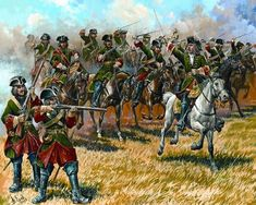 July 7, 1708 at 5:00pm the Russian cavalry charges the Sweedish infantry attack which struck the Russian camp, only to be counter-charged by the Sweedish cavalry and forced from the field.