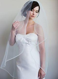 menyasszonyi fátyol - ujjhegyig érő fátyol