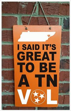 University Of Tennessee Vols Home Decor by gdaykreations on Etsy