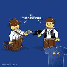 An Awkward Meeting #LEGO #IndianaJones #HanSolo