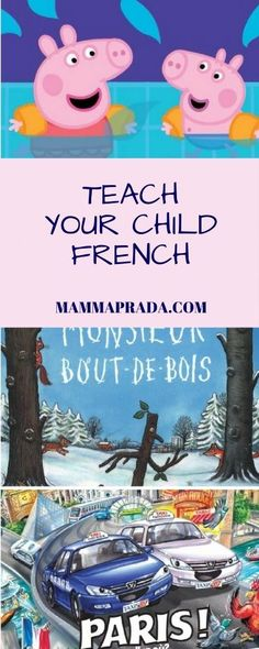 French for kids. Here you can find a carefully selected list of French books and resources for a variety of age groups. Learning French For Kids, Ways Of Learning, French Language Learning, Kids Learning, Teaching French, French Baby, French Kids, How To Speak French, Learn French