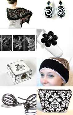 Beautiful Black and White Fashion Trends on Etsy.--Pinned with TreasuryPin.com