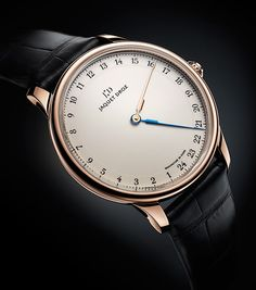A new classic JAQUET DROZ the Grande Heure GMT.